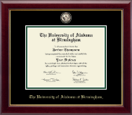 The University of Alabama at Birmingham Diploma Frame - Masterpiece Medallion Diploma Frame in Gallery