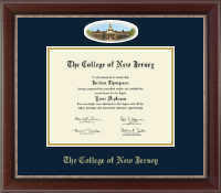 The College of New Jersey Diploma Frame - Campus Cameo Diploma Frame in Chateau