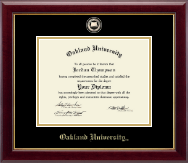 Oakland University Diploma Frame - Masterpiece Medallion Diploma Frame in Gallery