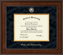 Oakland University Diploma Frame - Presidential Masterpiece Diploma Frame in Madison