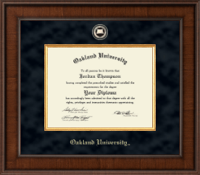 Oakland University Diploma Frames Church Hill Classics