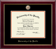 University of the Pacific Diploma Frame - Masterpiece Medallion Diploma Frame in Gallery