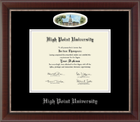 High Point University Diploma Frame - Campus Cameo Diploma Frame in Chateau