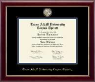 Texas A&M University Corpus Christi Diploma Frame - Masterpiece Medallion Diploma Frame in Gallery