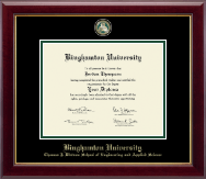 Binghamton University Diploma Frame - Masterpiece Medallion Diploma Frame in Gallery
