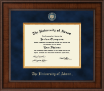 The University of Akron Diploma Frame - Presidential Masterpiece Diploma Frame in Madison