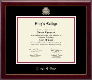 The King's College at Pennsylvania Diploma Frame - Masterpiece Medallion Diploma Frame in Gallery