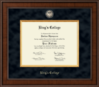 The King's College at Pennsylvania Diploma Frame - Presidential Masterpiece Diploma Frame in Madison