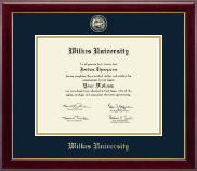 Wilkes University Diploma Frame - Masterpiece Medallion Diploma Frame in Gallery