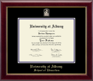 University at Albany State University of New York Diploma Frame - Masterpiece Medallion Diploma Frame in Gallery