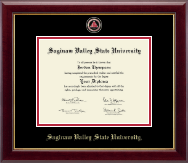 Saginaw Valley State University Diploma Frame - Masterpiece Medallion Diploma Frame in Gallery
