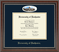 University of Rochester Diploma Frame - Campus Cameo Diploma Frame in Chateau