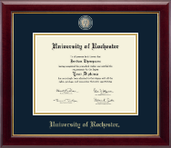 University of Rochester Diploma Frame - Masterpiece Medallion Diploma Frame in Gallery