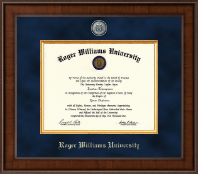 Roger Williams University Diploma Frame - Presidential Masterpiece Diploma Frame in Madison