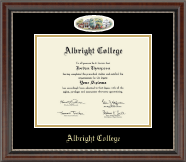 Albright College Diploma Frame - Campus Cameo Overly Diploma Frame in Chateau