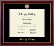 Albright College Diploma Frame - Masterpiece Medallion Diploma Frame in Gallery