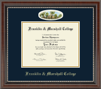 Franklin & Marshall College Diploma Frame - Campus Cameo Diploma Frame in Chateau