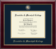 Franklin & Marshall College Diploma Frame - Masterpiece Medallion Diploma Frame in Gallery