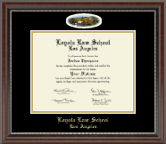 Loyola Law School Los Angeles Diploma Frame - Campus Cameo Diploma Frame in Chateau