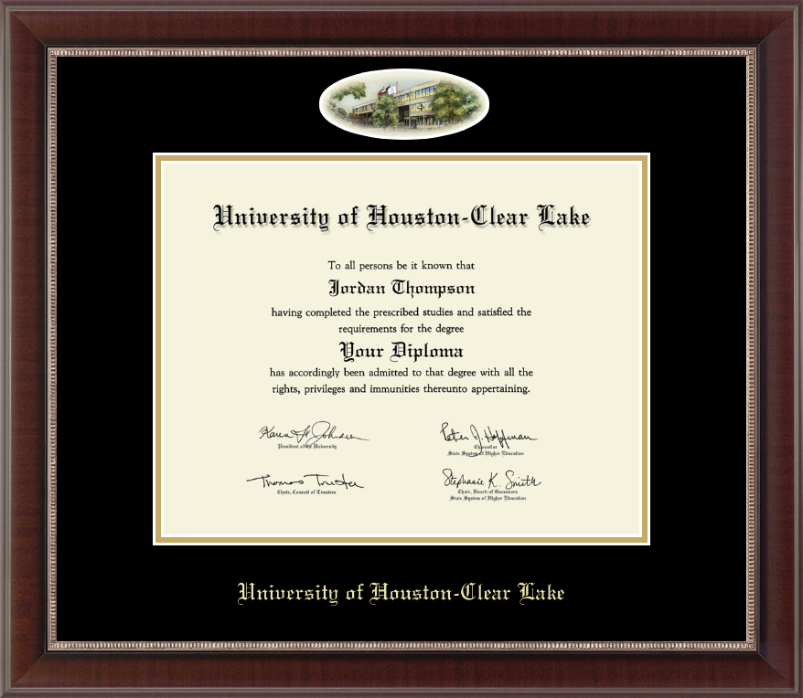 University Of Houston-Clear Lake Campus Cameo Diploma