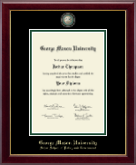 George Mason University Diploma Frame - Masterpiece Medallion Diploma Frame in Gallery