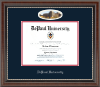 DePaul University Diploma Frame - Campus Cameo Diploma Frame in Chateau
