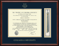 Columbia University Diploma Frame - Tassel Edition Diploma Frame in Southport