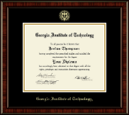 Georgia Institute of Technology Diploma Frame - Gold Embossed Diploma Frame in Ridgewood