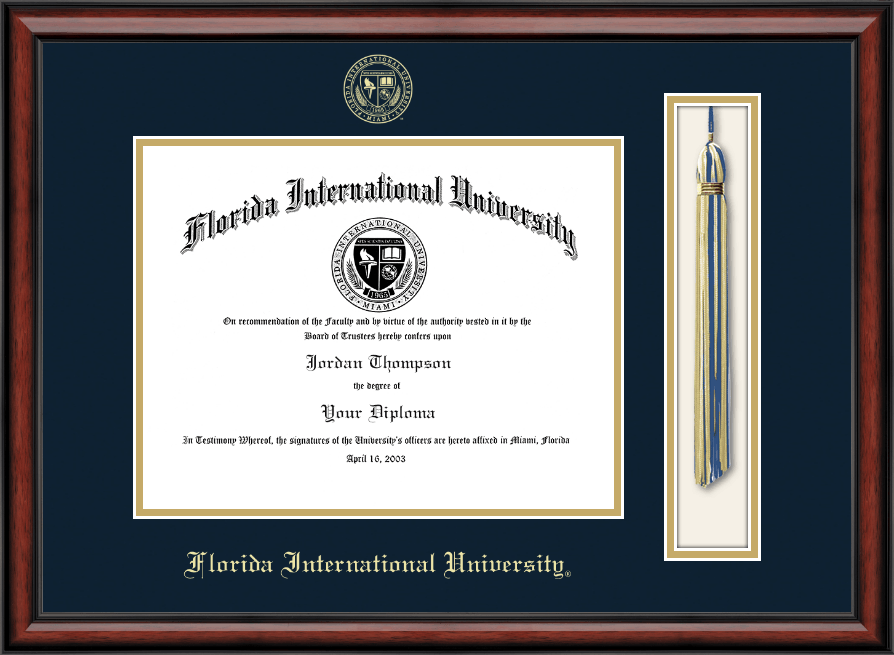 Florida International University Tassel Edition Diploma Frame In Southport