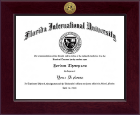 Florida International University Diploma Frame - Century Gold Engraved Diploma Frame in Cordova