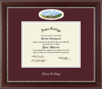 Alma College Diploma Frame - Campus Cameo Diploma Frame in Chateau