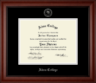 Alma College Diploma Frame - Silver Embossed Diploma Frame in Cambridge