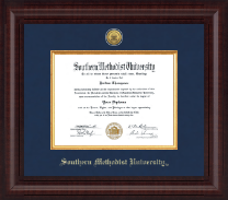 Southern Methodist University Diploma Frame - Presidential Gold Engraved Diploma Frame in Premier