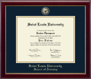 Saint Louis University Diploma Frame - Masterpiece Medallion Diploma Frame in Gallery