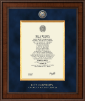 Rice University Diploma Frame - Presidential Masterpiece Diploma Frame in Madison