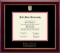 Ball State University Diploma Frame - Masterpiece Medallion Diploma Frame in Gallery