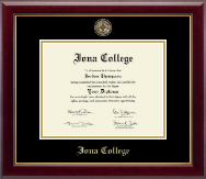 Iona College Diploma Frame - Masterpiece Medallion Diploma Frame in Gallery