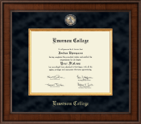 Emerson College Diploma Frame - Presidential Masterpiece Diploma Frame in Madison