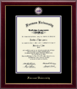 Furman University Diploma Frame - Masterpiece Medallion Diploma Frame in Gallery