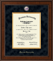 Furman University Diploma Frame - Presidential Masterpiece Diploma Frame in Madison