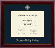 Lebanon Valley College Diploma Frame - Masterpiece Medallion Diploma Frame in Gallery