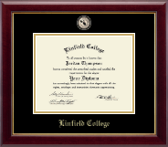 Linfield College Diploma Frame - Masterpiece Medallion Diploma Frame in Gallery