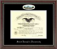 Saint Joseph's University in Pennsylvania Diploma Frame - Campus Cameo Diploma Frame in Chateau