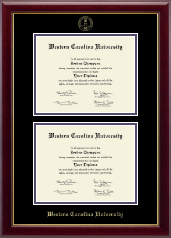 Western Carolina University Diploma Frame - Double Document Diploma Frame in Gallery
