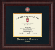 University of Wisconsin Madison Diploma Frame - Presidential Masterpiece Diploma Frame in Premier