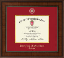 University of Wisconsin Madison Diploma Frame - Presidential Masterpiece Diploma Frame in Madison