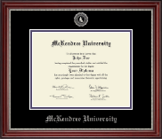 McKendree University Diploma Frame - Silver Embossed Diploma Frame in Kensington Silver