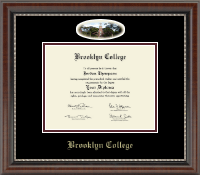 Brooklyn College Diploma Frame - Campus Cameo Diploma Frame in Chateau