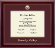 Brooklyn College Diploma Frame - Masterpiece Medallion Diploma Frame in Gallery