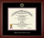 Philadelphia University Diploma Frame - Gold Embossed Diploma Frame in Cambridge